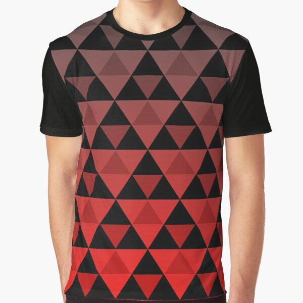 Tri-Pattern (Red Gradient) Graphic T-Shirt