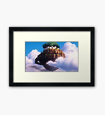in the sky Framed Print