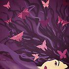 Butterflies in my hair by Sybille Sterk
