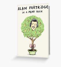 Alan Partridge in a Pear Tree Greeting Card