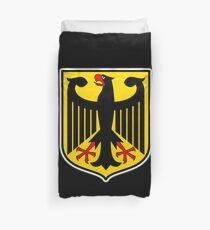 GERMAN EAGLE, on BLACK, German Coat of Arms, Flag, Bundesdienstflagge und Kriegsflagge Duvet Cover