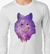 Geometric Galaxy Wolf T-Shirt