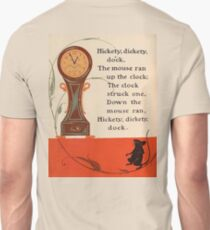 CLOCK, TIME, NURSERY, RHYME, Hickety Dickety Dock, Hickory Dickory Dock, Denslow T-Shirt