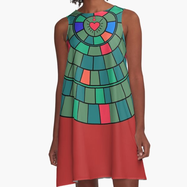 Circle of colours A-Line Dress