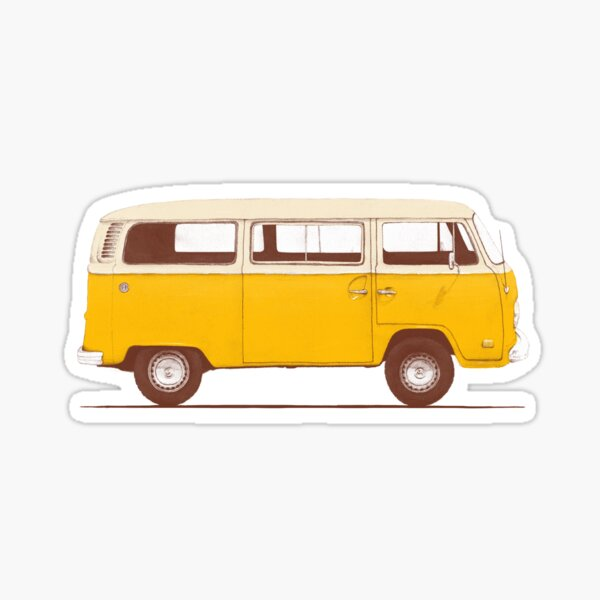 Yellow Van Sticker
