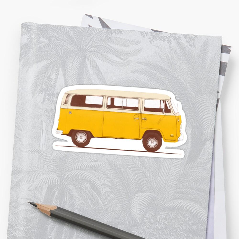 Gelber Van Sticker