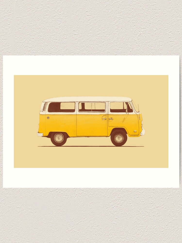Alternate view of Yellow Van Art Print