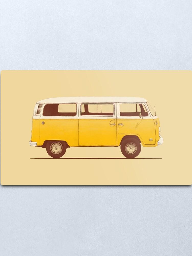 Alternate view of Yellow Van Metal Print