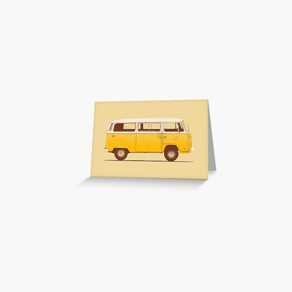 Yellow Van Greeting Card