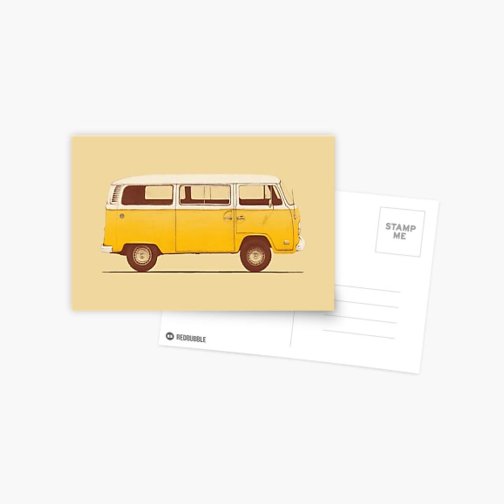 Yellow Van Postcard