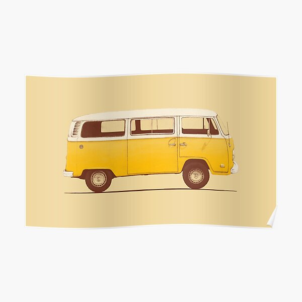 Yellow Van Poster