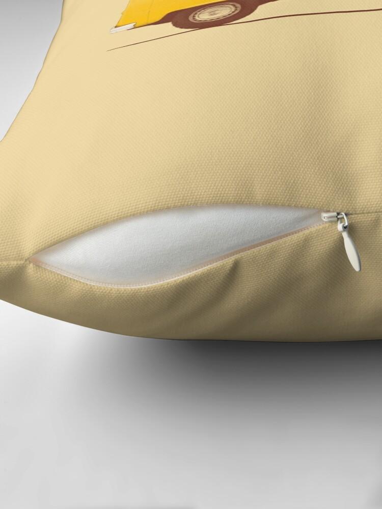 Alternate view of Yellow Van Throw Pillow