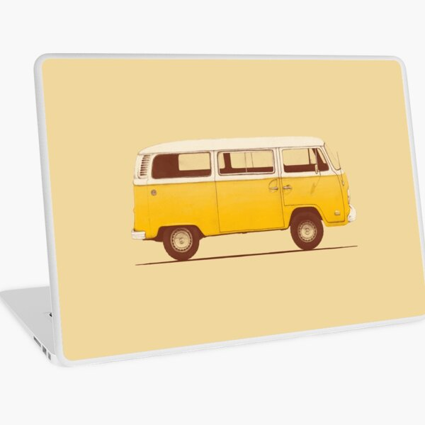 Yellow Van Laptop Skin