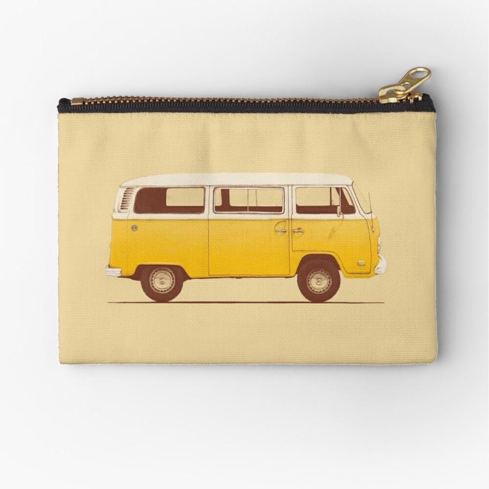 Yellow Van Zipper Pouch