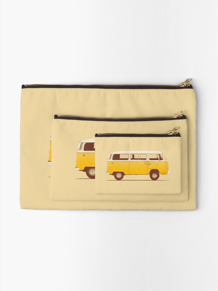Alternate view of Yellow Van Zipper Pouch