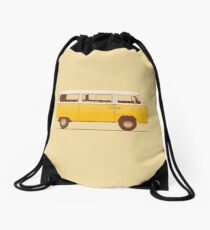 Yellow Van Drawstring Bag