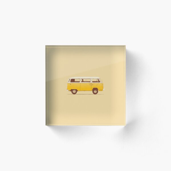Yellow Van Acrylic Block