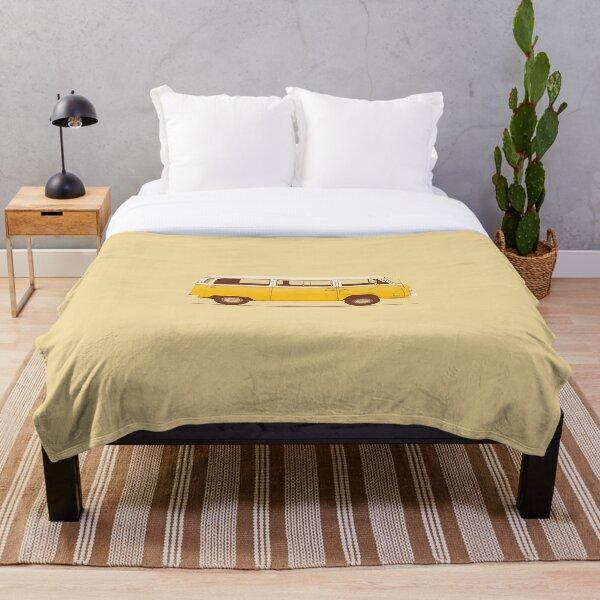 Yellow Van Throw Blanket
