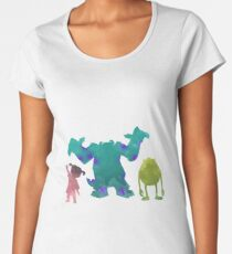 Monsters and girl Inspired Silhouette Women's Premium T-Shirt