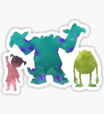 Monsters and girl Inspired Silhouette Sticker