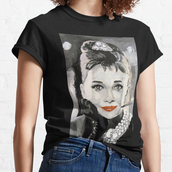 Audrey in Breakfast at Tiffanys Classic T-Shirt
