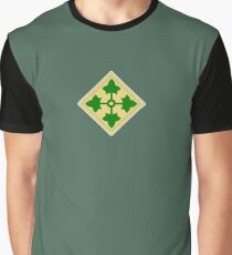 US, ARMY, Military, 4th Infantry, Division, Soldier, shoulder insignia, American, America, USA,  Graphic T-Shirt