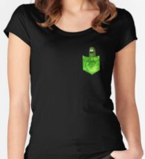 Pickle Rick! Women's Fitted Scoop T-Shirt