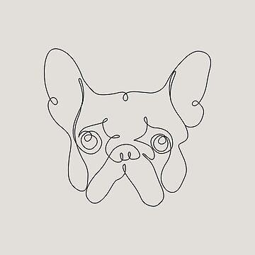 One Line French bulldog by Huebucket