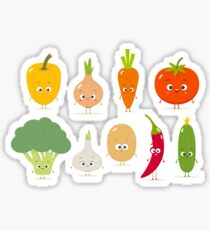 Vegetable Set Cartoon Emoji Vegetables Sticker