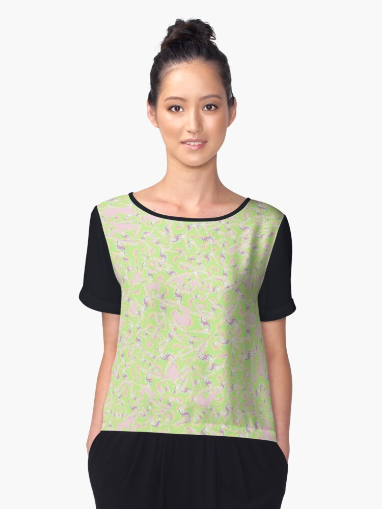 Abstract 0083f Women's Chiffon Top Front