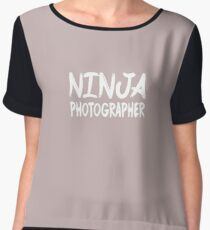 Ninja Photographer Women's Chiffon Top