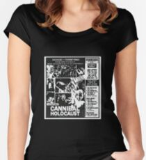 Cannibal Holocaust Newspaper Ad Women's Fitted Scoop T-Shirt