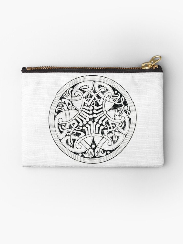 Celtic Hawks Shield Knot (Black) Distressed Design