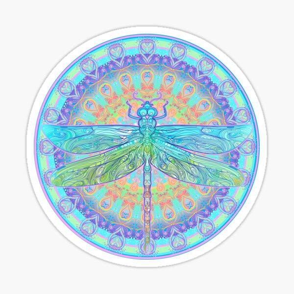 Art Nouveau Dragonfly Sticker
