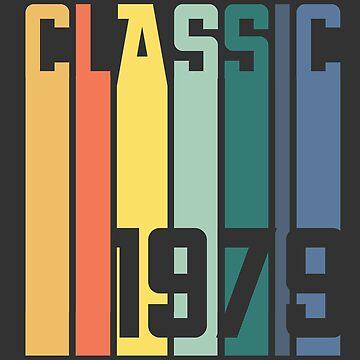 Classic 1979 Birthday Gift Retro Vintage Year by Sid3walkArt