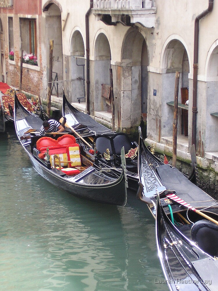 gondolas in waiting by Lauren Heather Lay