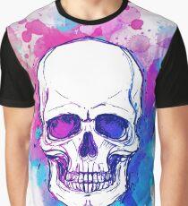 Watercolor Skull Graphic T-Shirt