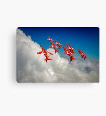 Red Arrows sky high Canvas Print