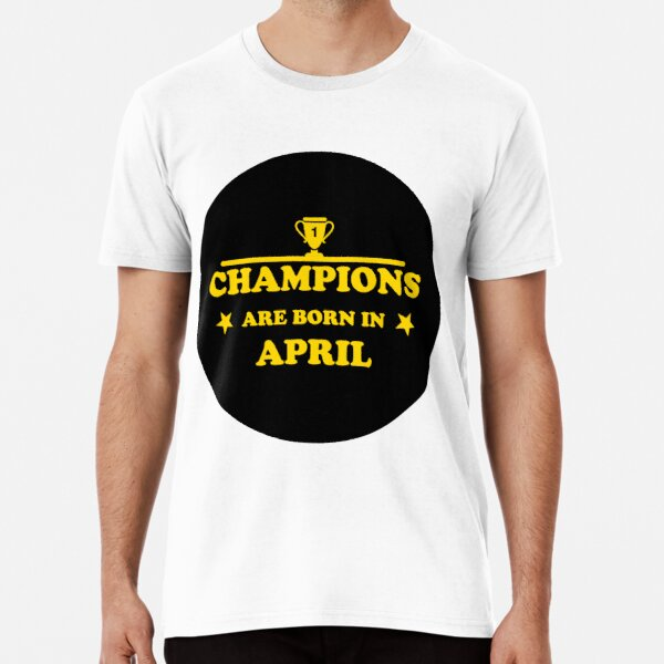Champions Are Born In April Shopping Tote Bag