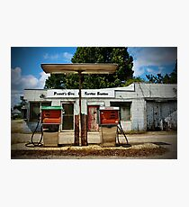Old Service Station Photographic Print