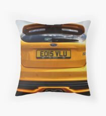 Focus ST at Ford Fair Throw Pillow