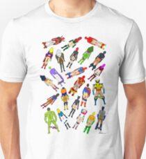 Butt of Superhero Villian - on White Unisex T-Shirt