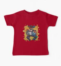 Cubist Style Accordion Player Vector Kids Clothes