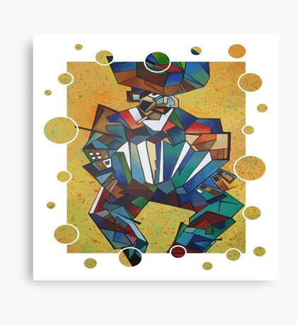 Cubist Style Accordion Player Vector Canvas Print