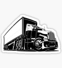 Cartoon semi truck Sticker