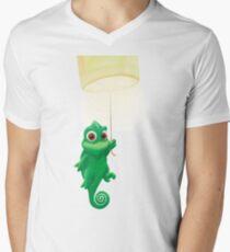 Pascal, der von einer Laterne schwingt T-Shirt mit V-Ausschnitt