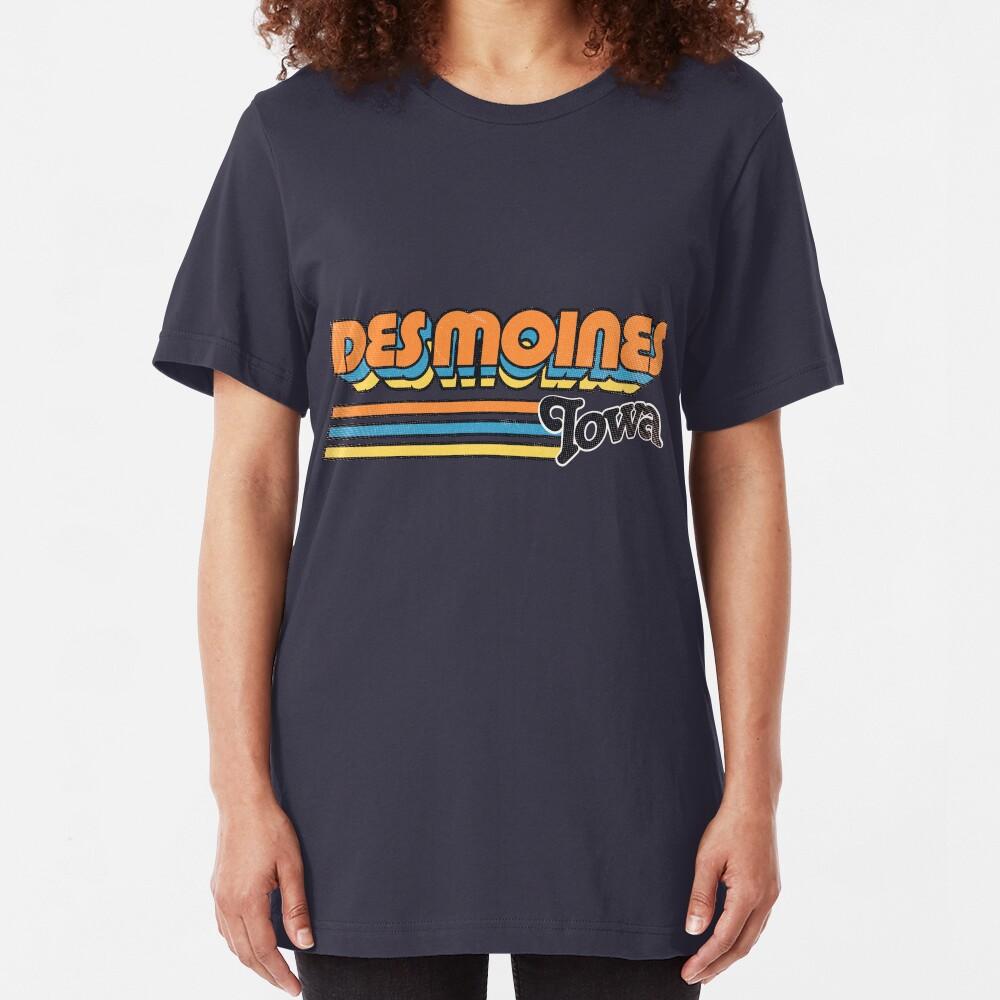 Des Moines, IA | City Stripes Slim Fit T-Shirt