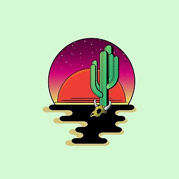 Desert Night by linearburn
