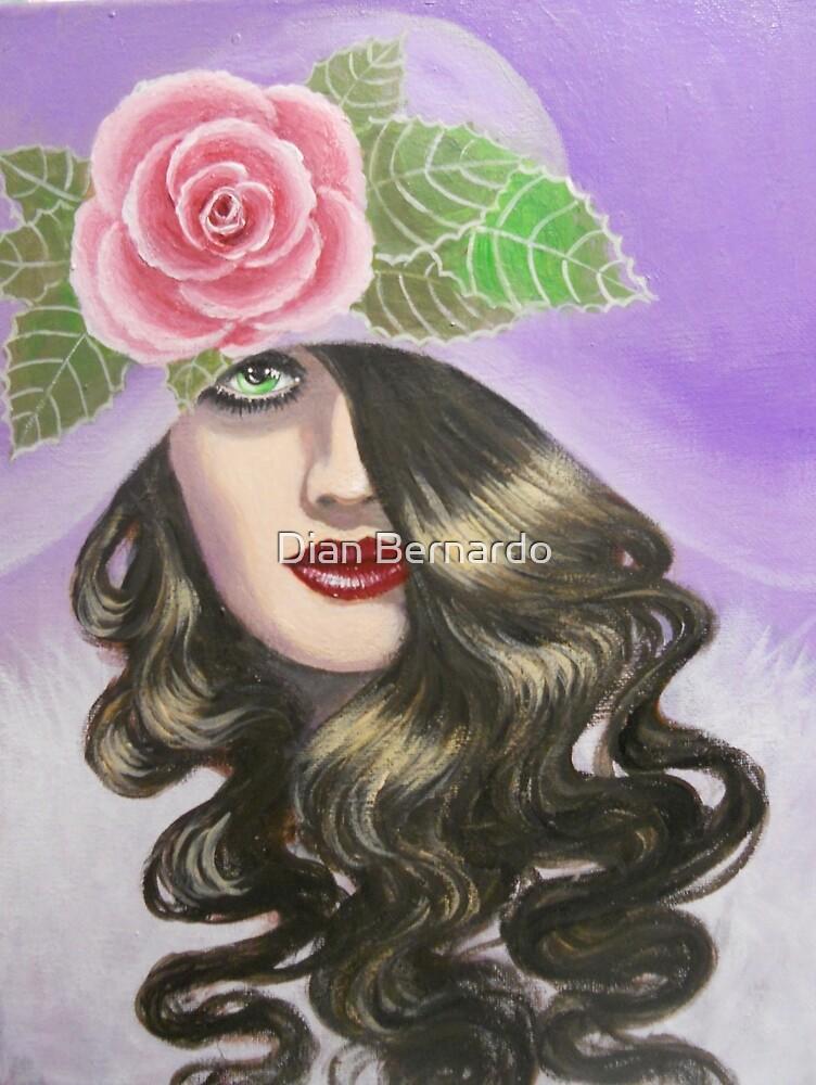 LADY IN A LAVENDER HAT by Dian Bernardo
