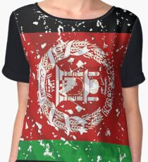 Afghanistan grunge vintage flag Chiffon Top